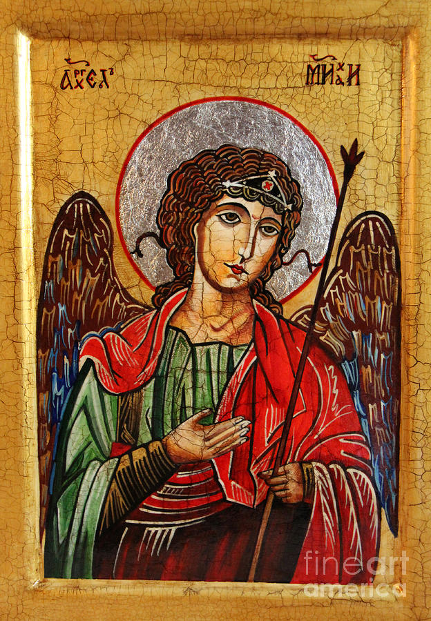 Michael Archangel Painting - Archangel Michael Icon by Ryszard Sleczka