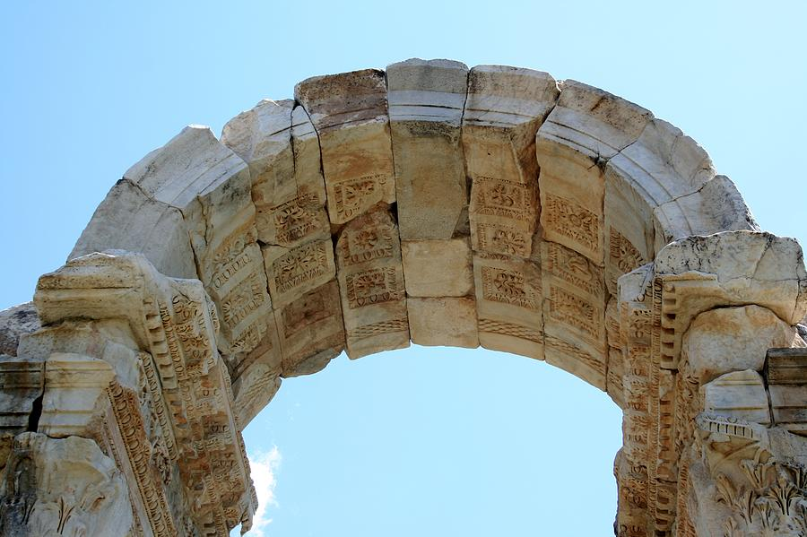 Aphrodisias Photograph - Arched Gate Of The Tetrapylon by Tracey Harrington-Simpson