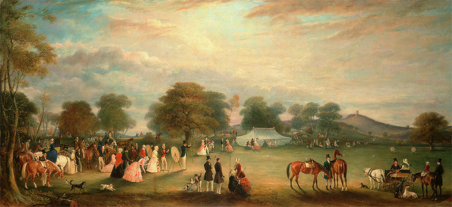 Archery Meeting In Bradgate Park Leicestershire Signed Painting By Litz Collection