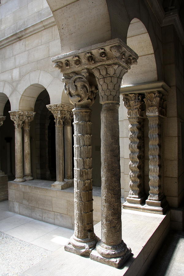 Arch Photograph - Arches And Columns - Cloister Nyc by Christiane Schulze Art And Photography