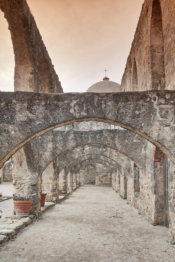 Arches At Convento At Mission San Jose Photograph by Witold Skrypczak