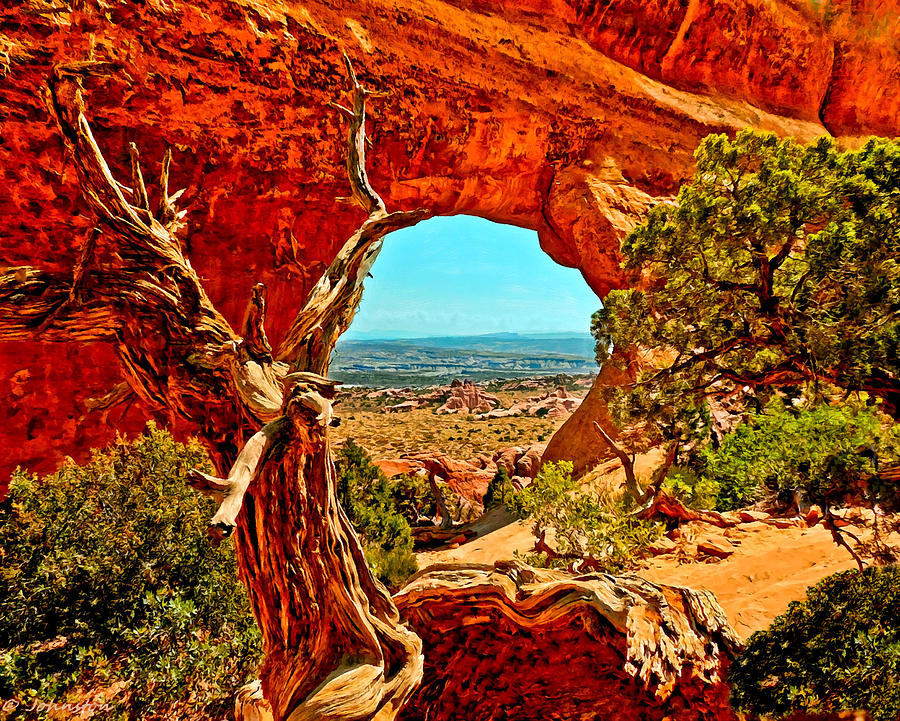Arches National Park Painting - Arches National Park by Bob and Nadine Johnston