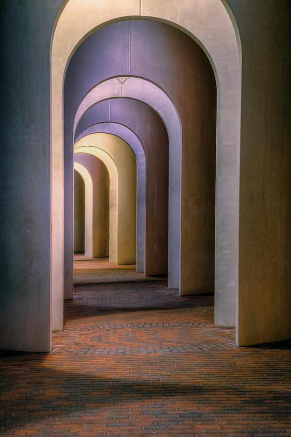 Arches Of The Ferguson Center Photograph by Jerry Gammon