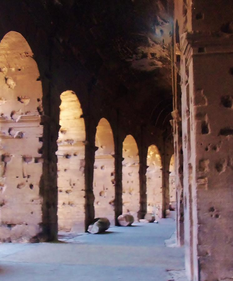 Arches Photograph - Arches Of The Roman Coliseum by Jan Moore