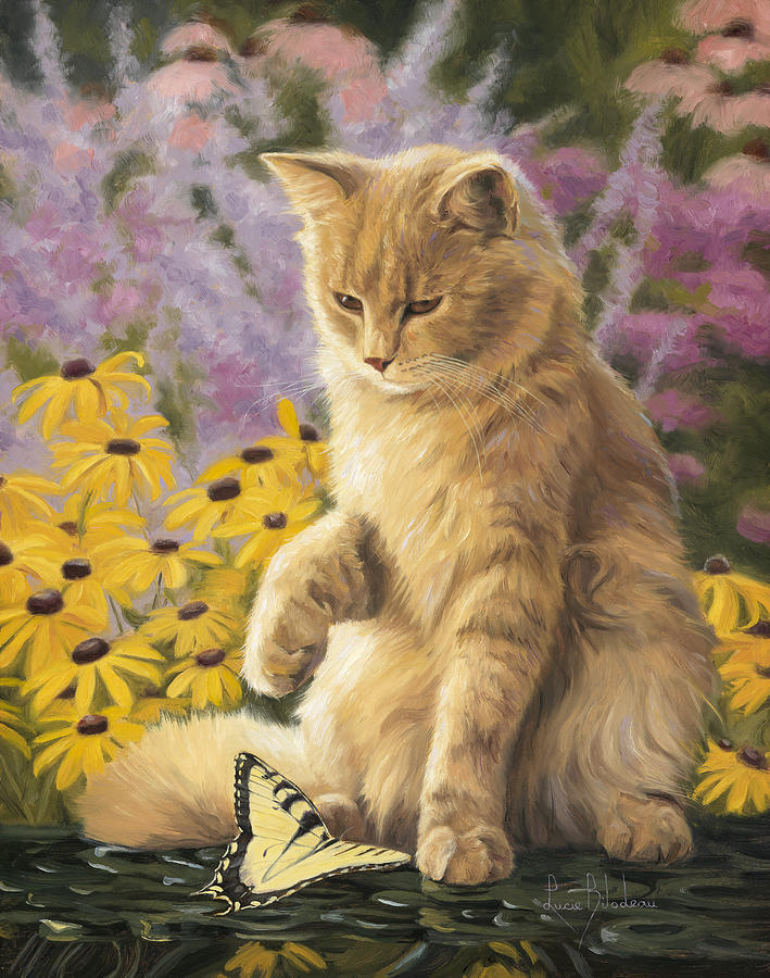 Cat Painting - Archibald And Friend by Lucie Bilodeau