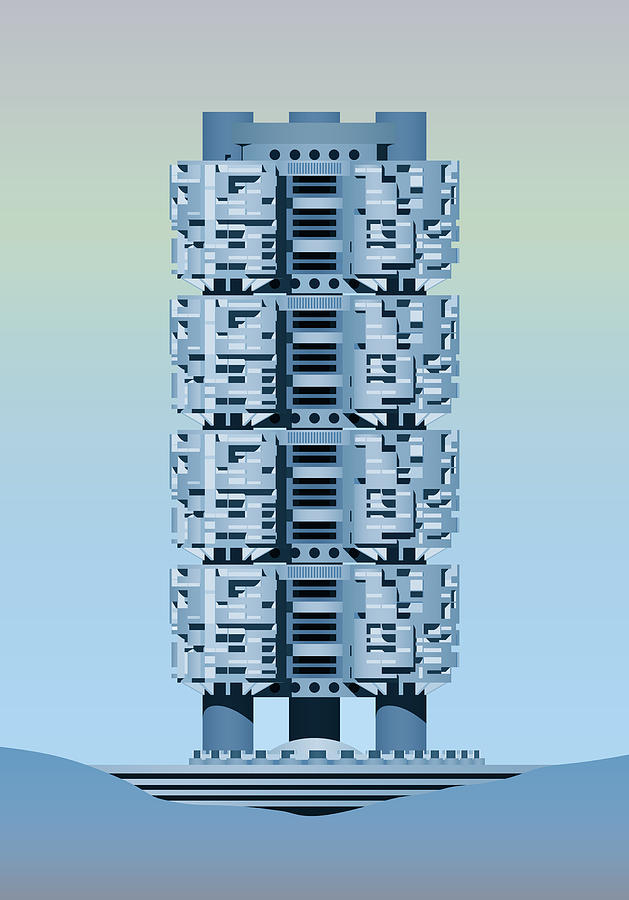 Architecture Digital Art - Archisystems by Peter Cassidy