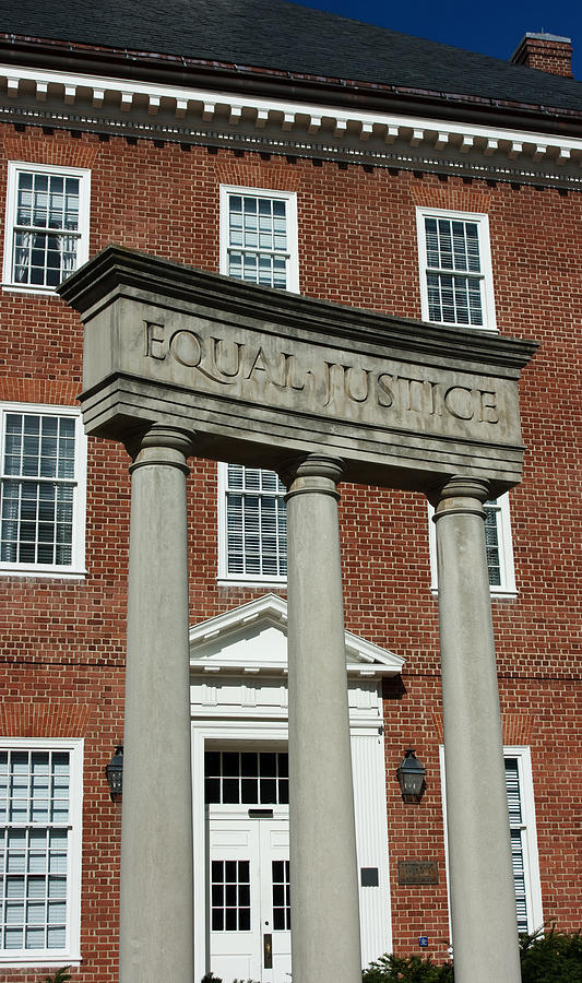 Architectural Columns With Equal Justice Photograph