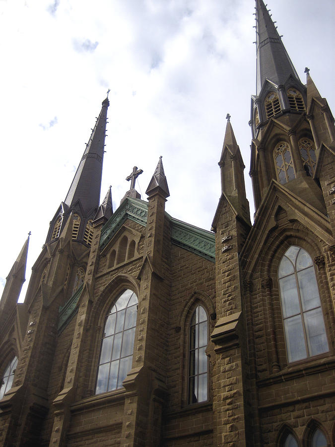 Spires Photograph - architecture churches Gothic Spires by Ann Powell