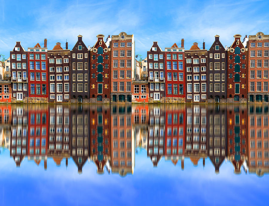 Architecture in Amsterdam, Holland Photograph by George Pachantouris