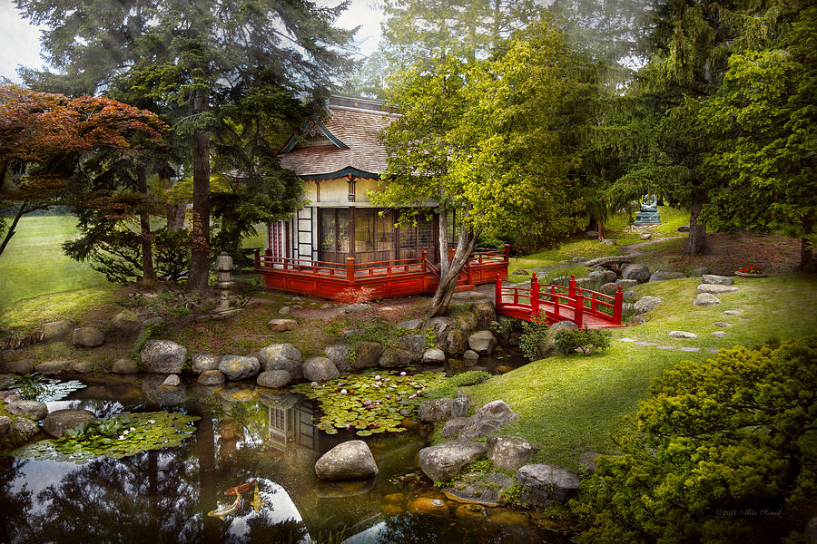 Savad Photograph - Architecture - Japan - Tranquil Moments  by Mike Savad
