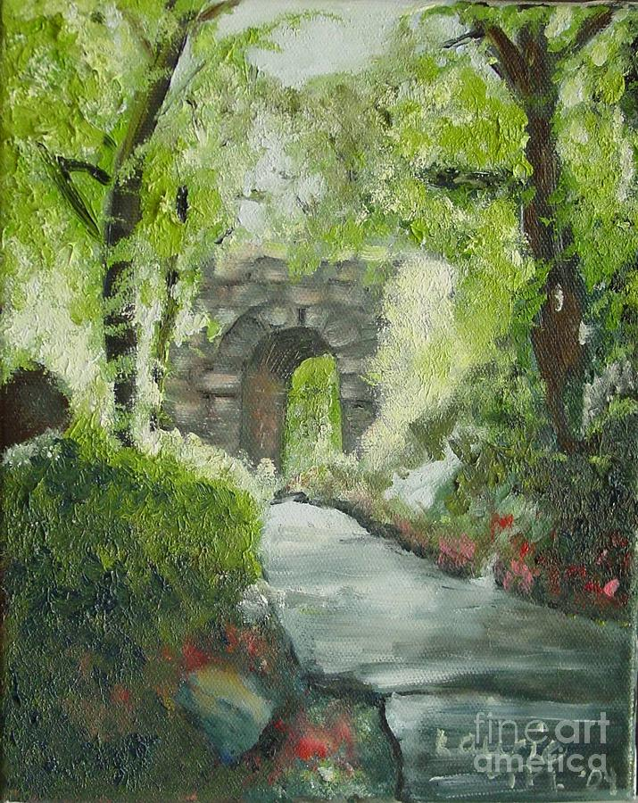 New York Painting - Archway In Central Park by Laurie Morgan