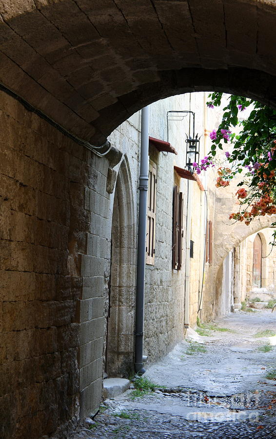 Arch Photograph - Archway Rhodos City by Christiane Schulze Art And Photography