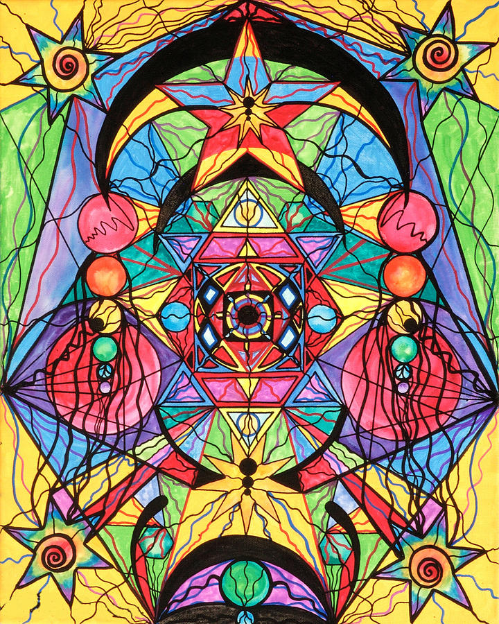 Vibration Painting - Arcturian Ascension Grid by Teal Eye  Print Store