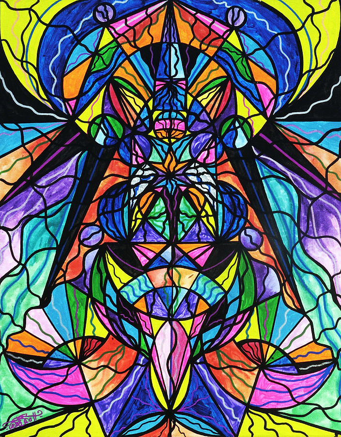 Vibration Painting - Arcturian Awakening Grid by Teal Eye  Print Store