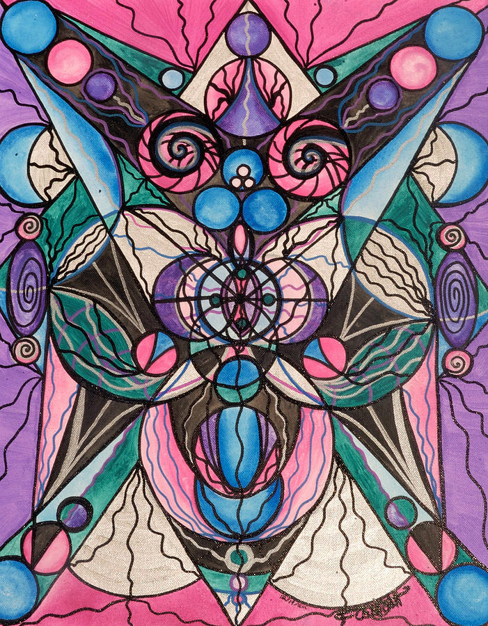 Vibration Painting - Arcturian Healing Lattice  by Teal Eye Print Store