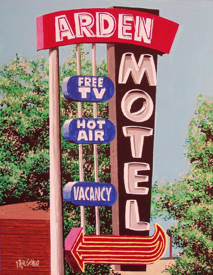 Sacramento Painting - Arden Motel by Paul Guyer