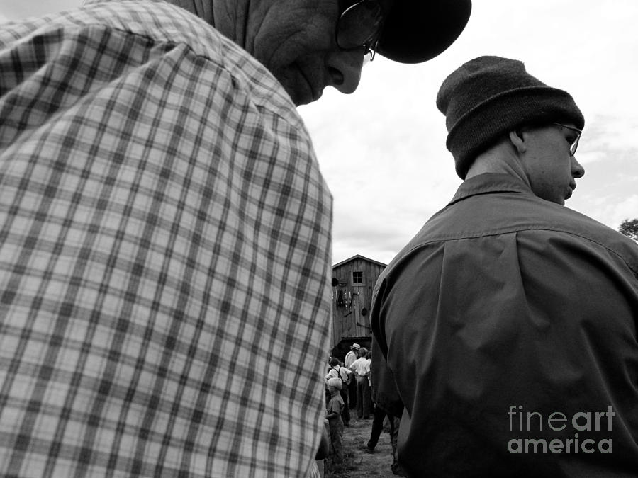 Amish Photograph - Are We Blocking Your View ? by Tina M Wenger