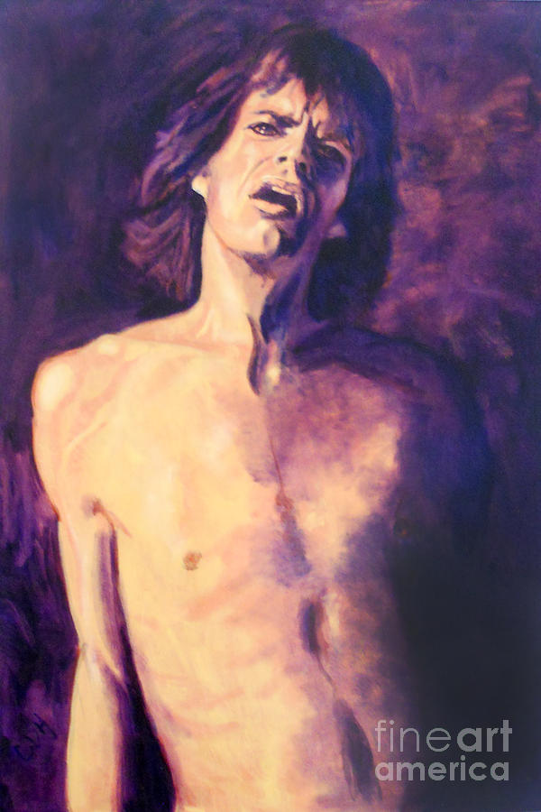 Mick Painting - Are You Already Over Me? by Carole Heslin