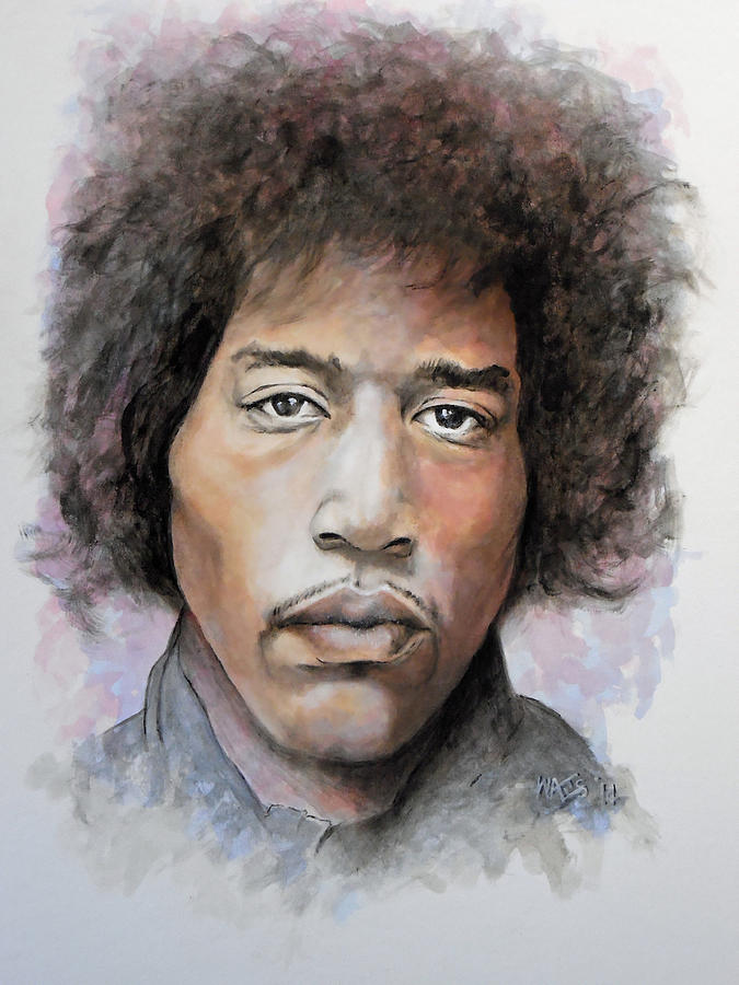 Portrait Painting - Are You Experienced by William Walts