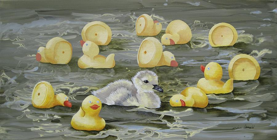 Duck Painting - Are You My Mother by Jennifer  Donald