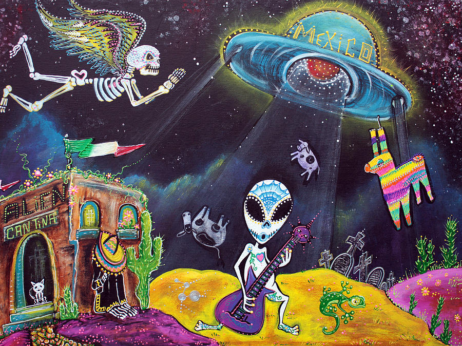 Mexico Painting - Area 54 by Laura Barbosa