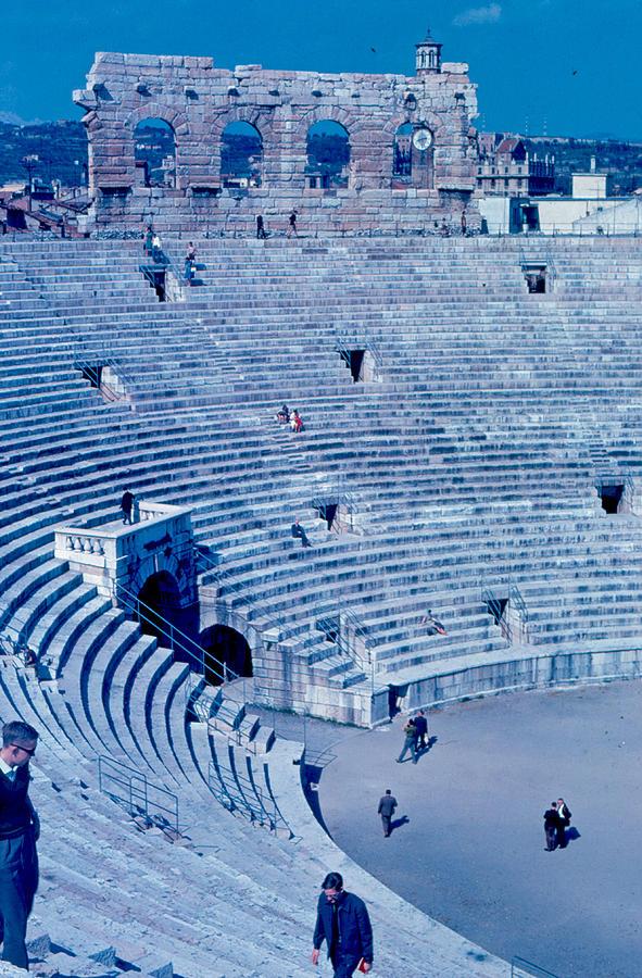 Arena Photograph - Arena Verona Interior 1962 by Cumberland Warden