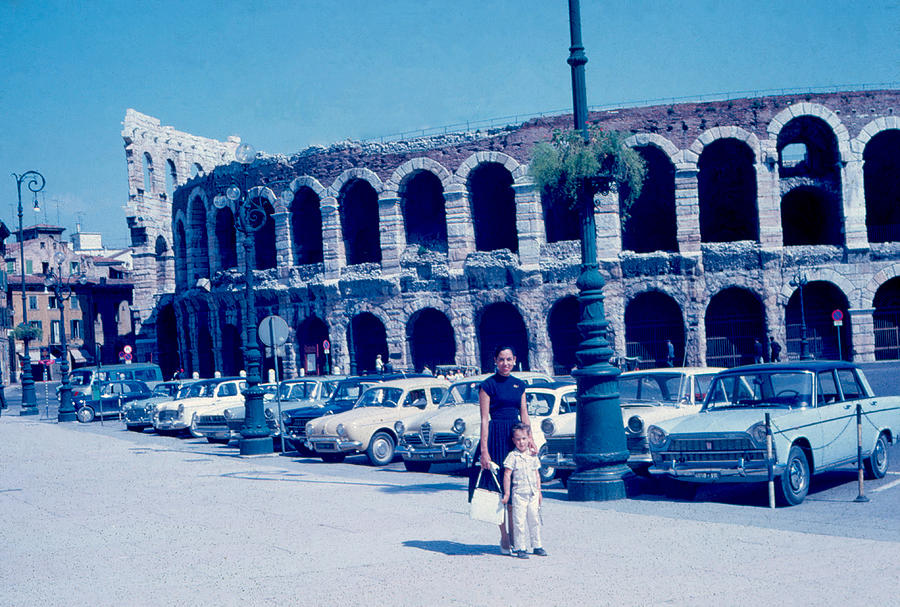 Arena Photograph - Arena Verona Italy 1962 by Cumberland Warden