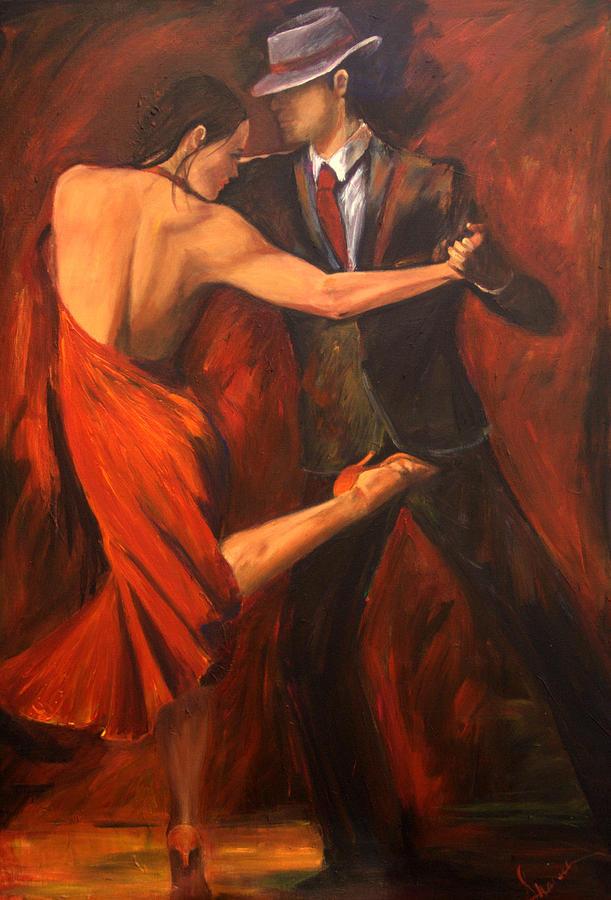 Tango Painting - Argentine Tango by Sheri  Chakamian