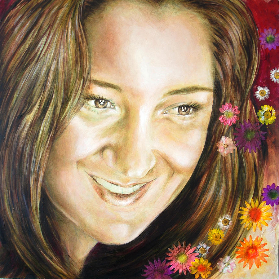 Portrait Painting - Arianas Portrait by Karina Llergo