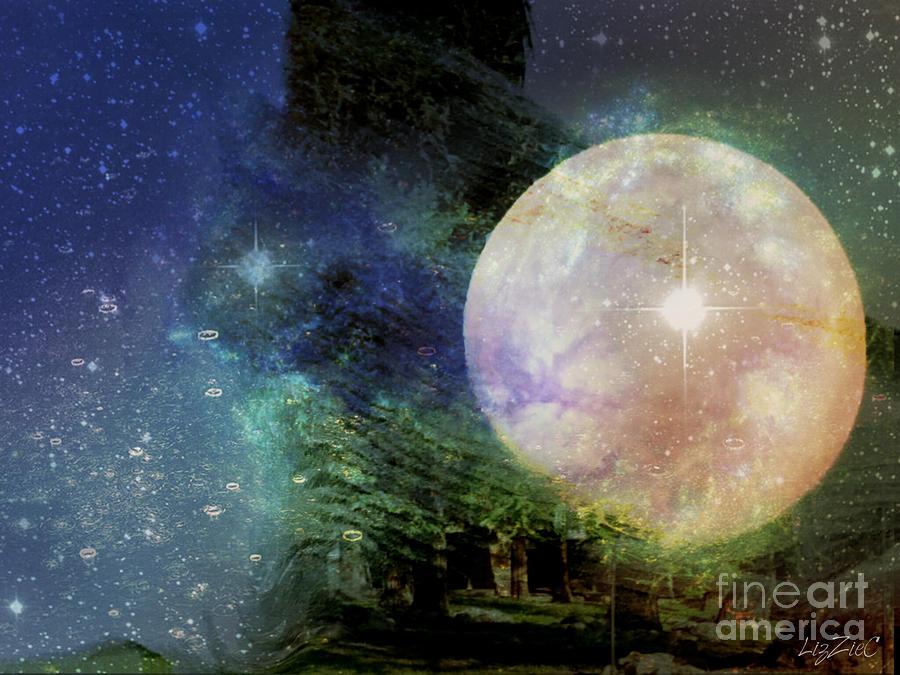 Goddess Digital Art - Arianrhod by Liz Campbell
