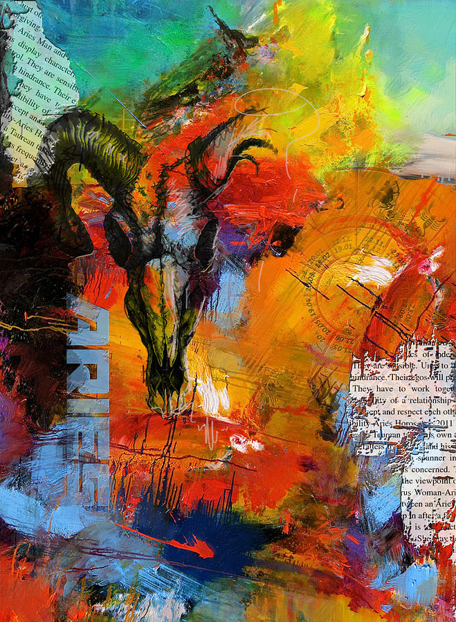Aries Painting - Aries Horoscope by Corporate Art Task Force