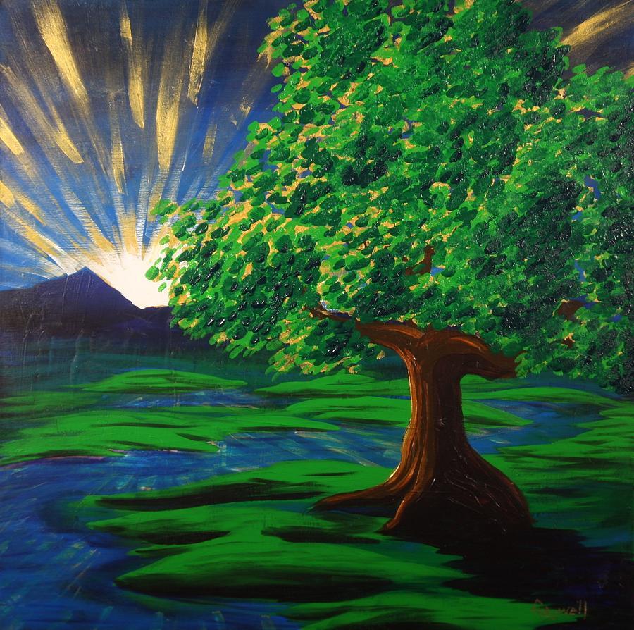 Tree Painting - Arise Shine by Gary Rowell