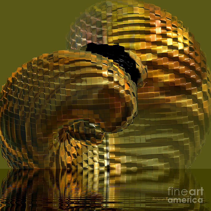 Golden Digital Art - Arisen From The Depths by Deborah Benoit
