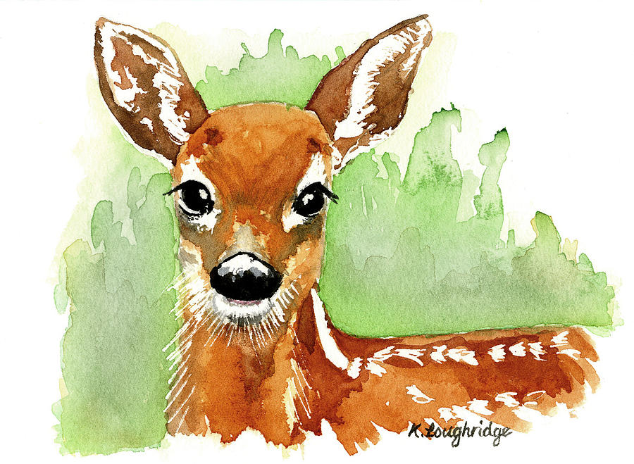 Aristocratic Red Deer by Karen  Loughridge KLArt