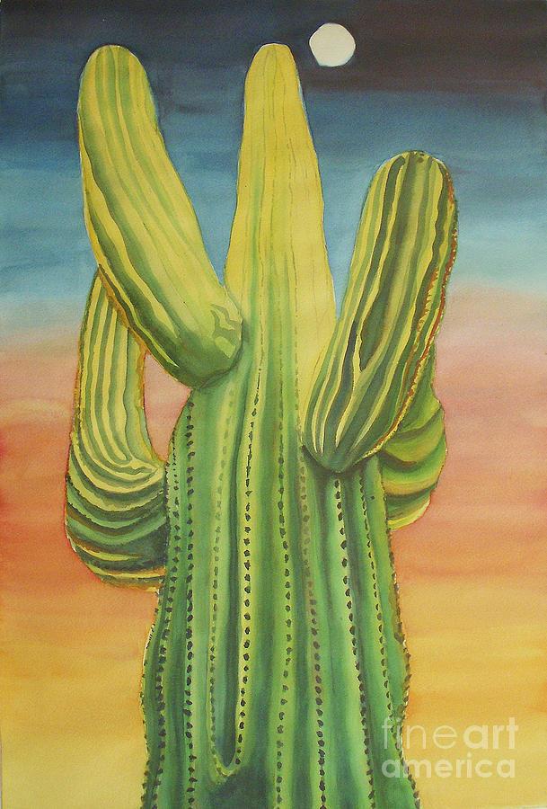 Arizona Painting - Arizona Cactus by Robyn Saunders