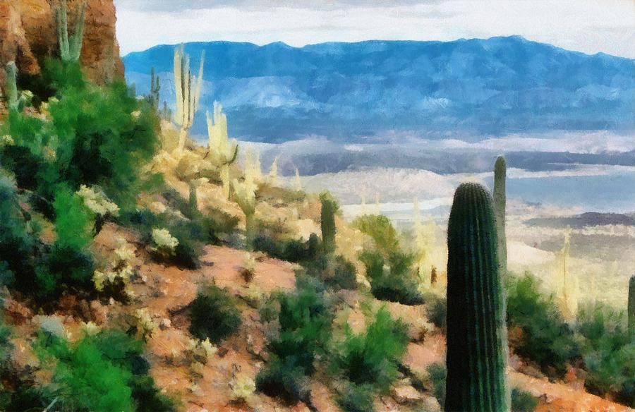 Desert Photograph - Arizona Desert Heights by Michelle Calkins