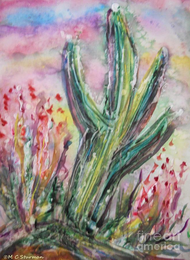 Desert Mixed Media - Arizona Desert by M C Sturman
