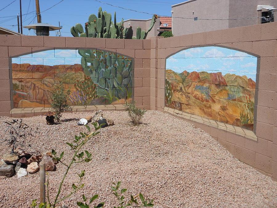 Landscape Painting - Arizona Desert Portal by Nora Niles