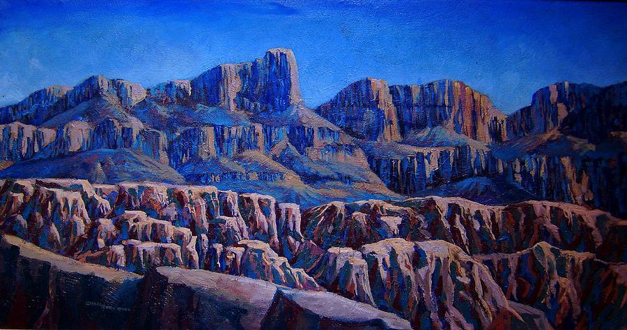 Arizona Painting - Arizona Landscape At Sunset by Dan Terry