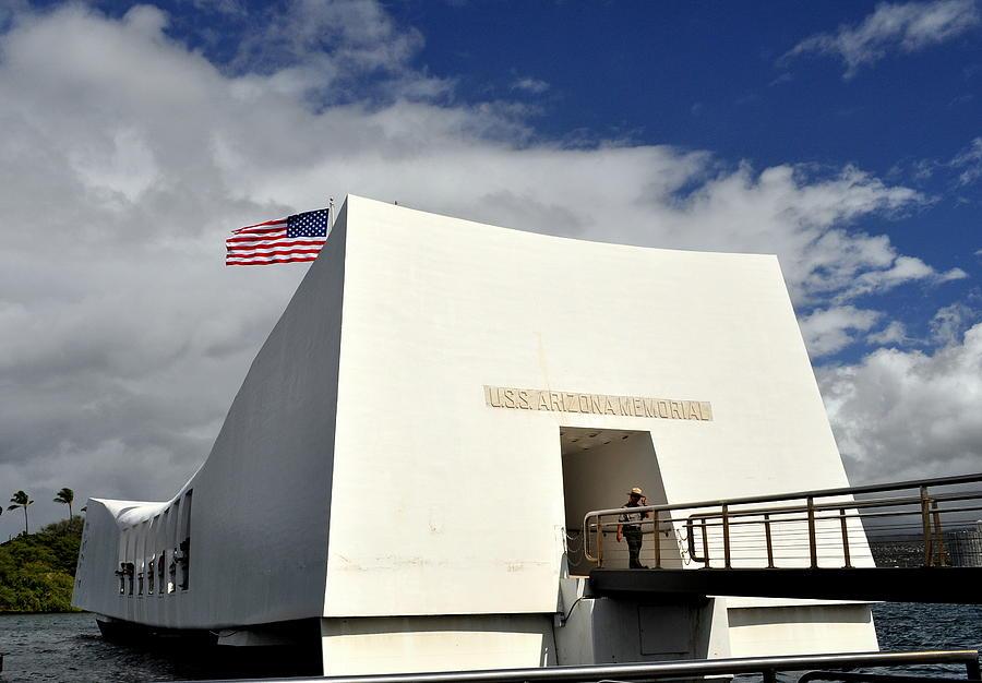 Hawaii Photograph - Arizona Memorial by Caroline Stella