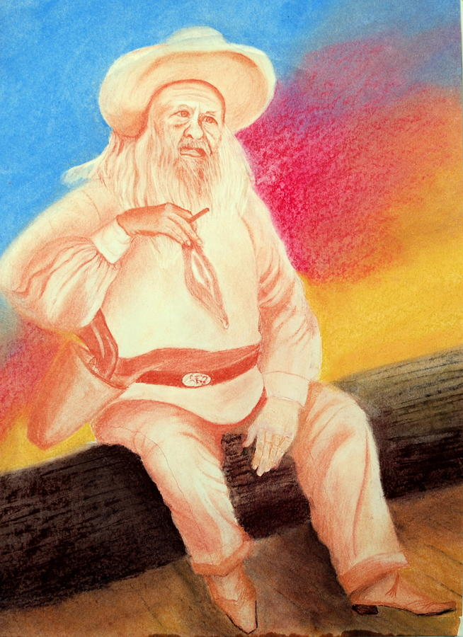 Figure Drawing - Arizona Philosopher by Jack Hampton