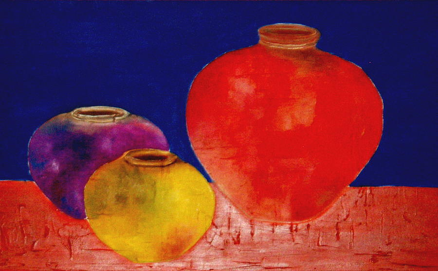 Pottery Painting - Arizona Pottery by Andrea Vazquez-Davidson