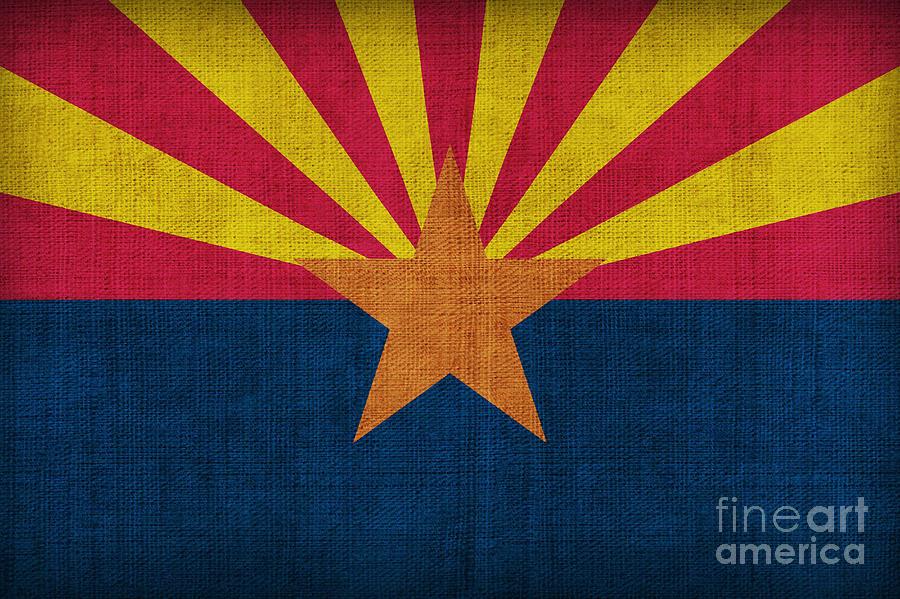 Arizona Painting - Arizona State Flag by Pixel Chimp