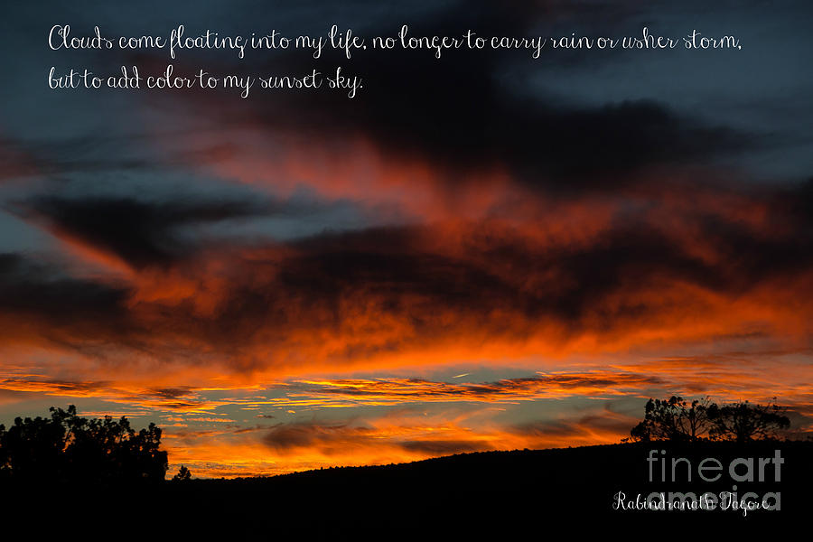 Arizona Sunset With Quote Photograph By Jim Mccain