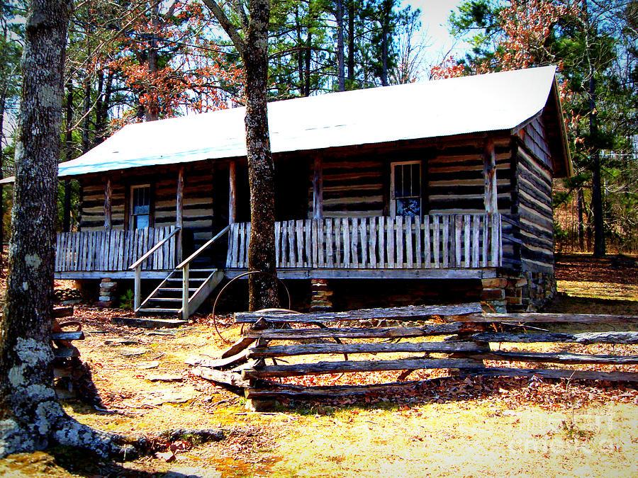 Replica Of Arkansas Homestead Painting - Arkansas Heritage by Vivian Cook