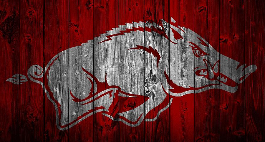 Awesome Arkansas Razorbacks Mixed Media   Arkansas Razorbacks Barn Door By Dan  Sproul