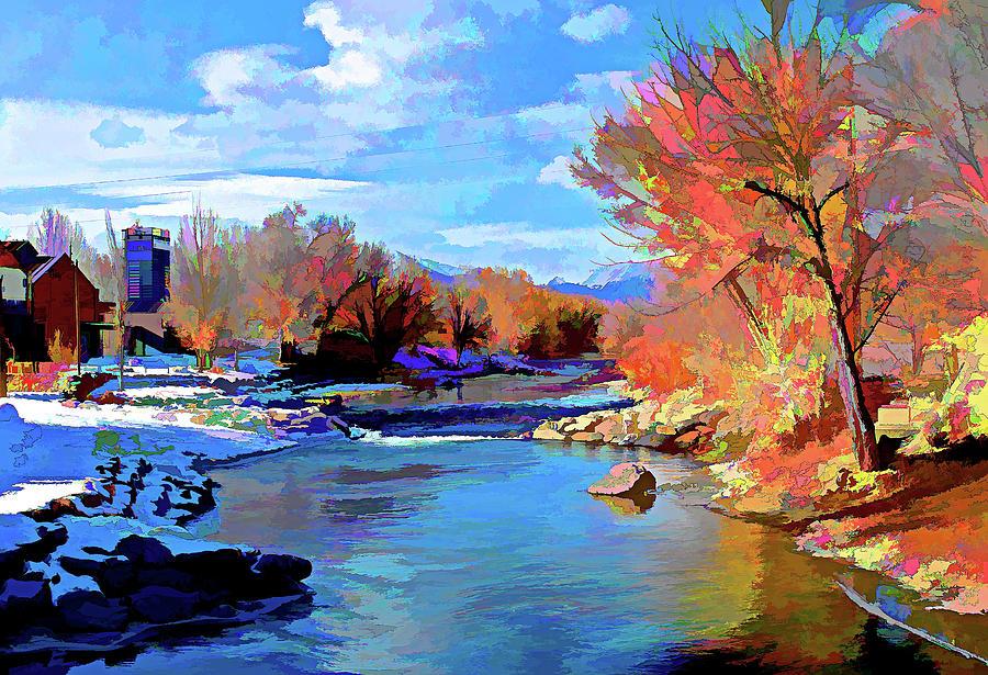 Arkansas Digital Art - Arkansas River In Salida Co by Charles Muhle