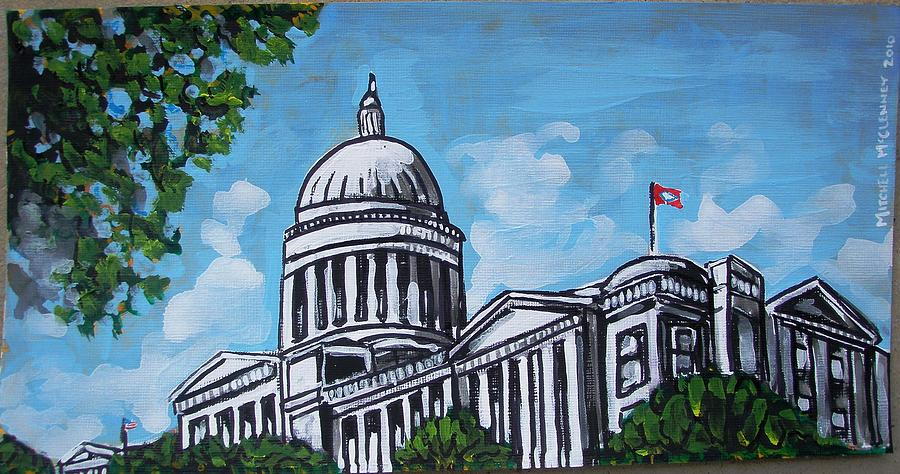 Arkansas Painting - Arkansas State Capitol by Mitchell McClenney