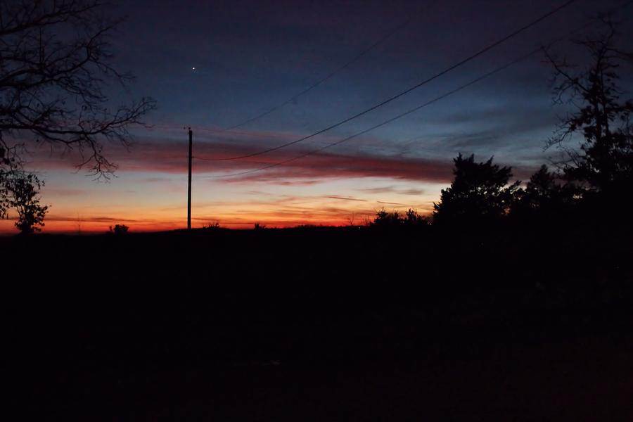 Arkansas Photograph - Arkansas Winter Sunset by Edward Hamilton