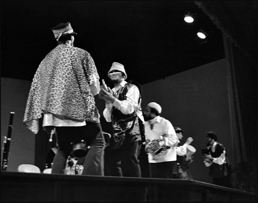 Uc Davis Photograph - Arkestra Procession 1968 by Lee  Santa